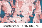 rough oil paint strokes on... | Shutterstock .eps vector #1787132873