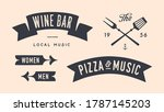 vintage graphic set. set of...   Shutterstock . vector #1787145203