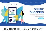 online business mobile store at ...   Shutterstock .eps vector #1787149379
