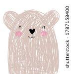 cute hand drawn vector... | Shutterstock .eps vector #1787158400