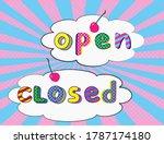 Door Signs Closed Open In Pop...