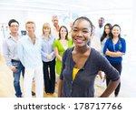 beautiful young african woman... | Shutterstock . vector #178717766