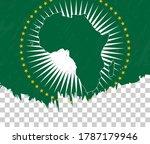 grunge style flag of african... | Shutterstock .eps vector #1787179946