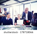 contemporary business people... | Shutterstock . vector #178718066