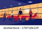 passengers people traveler... | Shutterstock .eps vector #1787186129
