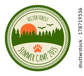 vintage summer camp sticker... | Shutterstock .eps vector #178719536