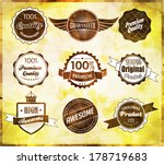 set of retro vintage labels.... | Shutterstock .eps vector #178719683