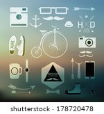 hipster style elements  icons... | Shutterstock .eps vector #178720478