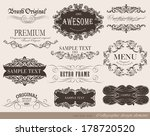calligraphic design elements... | Shutterstock .eps vector #178720520