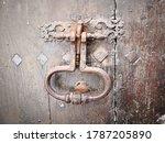 Old Iron Door Knocker With...