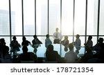 leader talking to business team ... | Shutterstock . vector #178721354