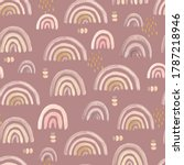 seamless pattern with delicate... | Shutterstock . vector #1787218946