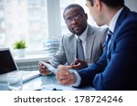 image of two young businessmen... | Shutterstock . vector #178724246
