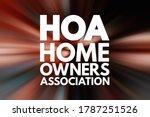 hoa   homeowners association... | Shutterstock . vector #1787251526