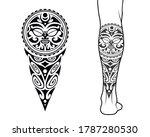 maori tribal style tattoo...   Shutterstock .eps vector #1787280530