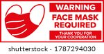 face mask required warning sign ...   Shutterstock .eps vector #1787294030