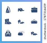 accessory icon set and computer ...