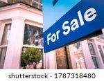 Estate agent for sale sign on...