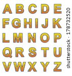 letters set bright style.... | Shutterstock .eps vector #178732520