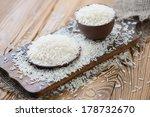 raw basmati kernels  close up ... | Shutterstock . vector #178732670