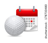 Icon Of Golf Ball And Calendar...