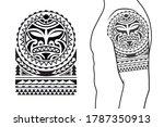 maori tribal style tattoo... | Shutterstock .eps vector #1787350913