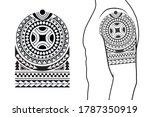 maori tribal style tattoo... | Shutterstock .eps vector #1787350919