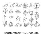 leaf icon idea design   Shutterstock .eps vector #178735886