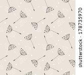 dandelions seamless pattern....   Shutterstock .eps vector #178735970