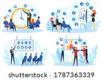 business people on meeting... | Shutterstock .eps vector #1787363339