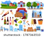 grape wine product process in... | Shutterstock .eps vector #1787363510