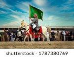 Saudi Arab Horse Rider With...