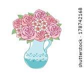 bouquet of roses. vector...   Shutterstock .eps vector #178742168