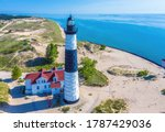 Aerial View Of Big Sable Point...