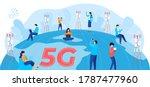 5g internet communication...   Shutterstock .eps vector #1787477960