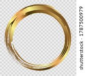 circle gold frame painted with... | Shutterstock .eps vector #1787500979
