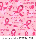 ribbons and hearts vector....   Shutterstock .eps vector #1787541359