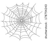Spider Web Isolated On White ...