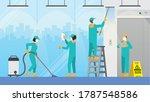 routine everyday job concept.... | Shutterstock .eps vector #1787548586