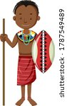 ethnic people of african tribes ... | Shutterstock .eps vector #1787549489