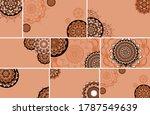 beautiful mandala design... | Shutterstock .eps vector #1787549639