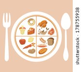 plate with separate food ... | Shutterstock .eps vector #178755938