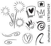 hand drawn set elements...   Shutterstock .eps vector #1787569529