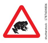 migratory toad crossing ahead... | Shutterstock .eps vector #1787604806
