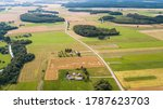 Aerial View Of Lithuania...