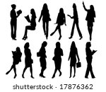 vector collection of people... | Shutterstock .eps vector #17876362