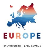 europe map. map of the... | Shutterstock .eps vector #1787669573