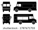 food truck pictograms on white... | Shutterstock .eps vector #1787671703
