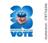 exploding american stars. vote... | Shutterstock .eps vector #1787716346