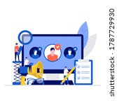 hiring and recruitment vector... | Shutterstock .eps vector #1787729930
